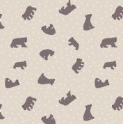 Lewis & Irene - Bear Hug - 6189 - Scattered Bears on Beige - A314.1 - Cotton Fabric